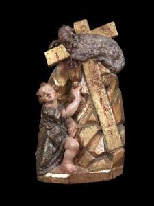 Ángel recogiendo la sangre del cordero. Juan Sanz (escultura); Juan Usarte (policromía). 1607