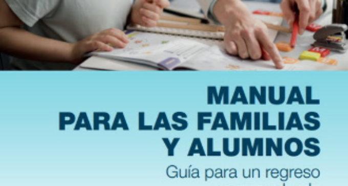 La Comunidad edita un manual para ayudar a familias y centros educativos durante el curso escolar 2020/21