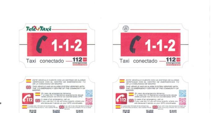 Madrid 112 se acerca a madrileños y turistas a través de información de utilidad en los taxis