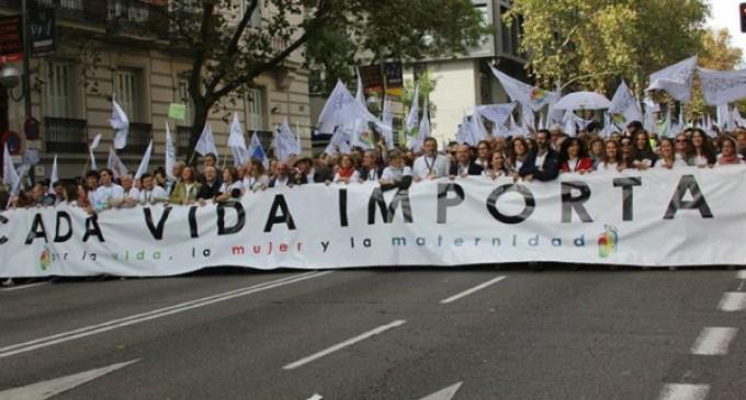 """Clamor ciudadano en Madrid: """"Por la vida, la mujer y la maternidad.Cada Vida Importa"""""""