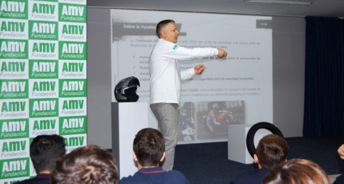 La Fundación AMV promueve en centros escolares la conducción segura de motocicletas