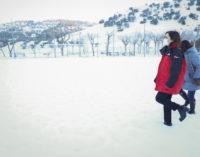 Díaz Ayuso visita la zona del sureste para evaluar los daños tras la nevada