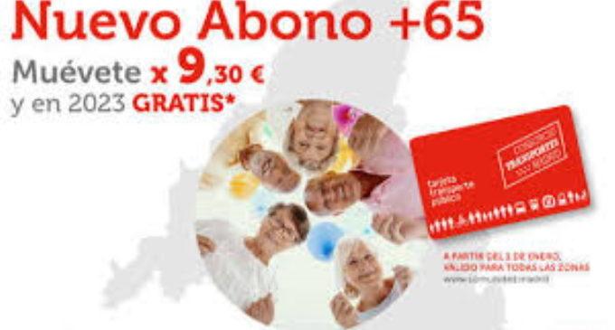 La Comunidad de Madrid rebaja un 25% el abono transporte para los mayores de 65 años