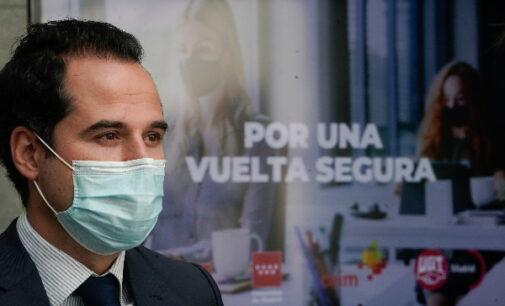 """Aguado: """"La mascarilla es nuestro cinturón de seguridad, arnés o antivirus en la vuelta al trabajo"""""""