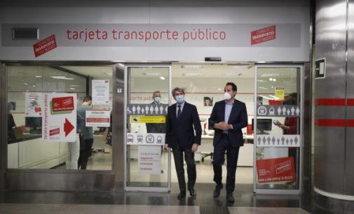 Aguado anuncia que la Comunidad compensará los abonos transporte que no se han podido utilizar durante la alerta sanitaria
