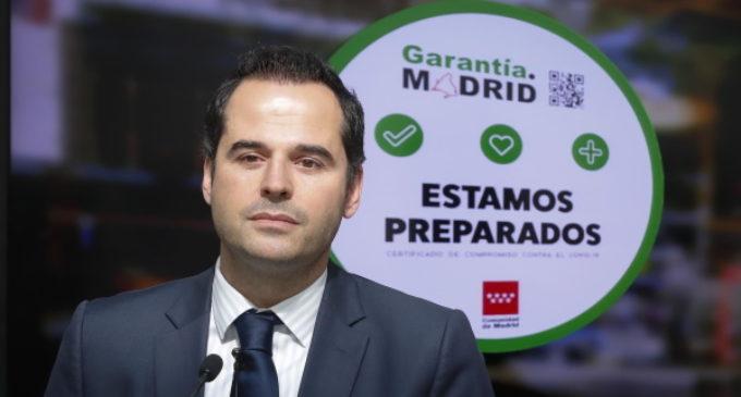 Aguado presenta el sello Garantía.Madrid para fomentar las buenas prácticas de las empresas de la región