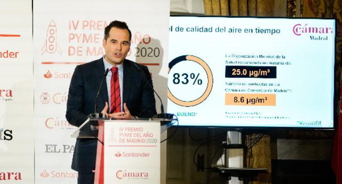 """Aguado reconoce """"el sacrificio y esfuerzo de las pymes madrileñas"""" y confía en su """"resistencia"""" ante el COVID-19"""