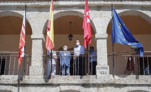 """Aguado visita Miraflores y Bustarviejo y apela a """"la unión entre administraciones"""" para """"combatir"""" al coronavirus"""