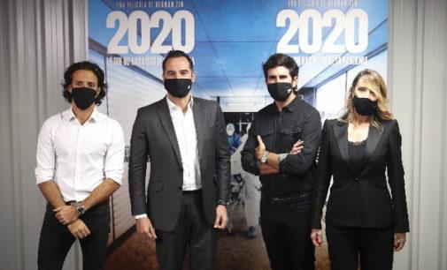 """Aguado promueve """"la asistencia a las salas de cine y la cultura segura"""" en el preestreno del documental 2020"""