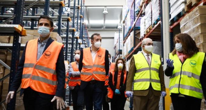 La Comunidad se interesa por la labor humanitaria de Banco de Alimentos y anima a los madrileños a participar en la Operación Kilo virtual
