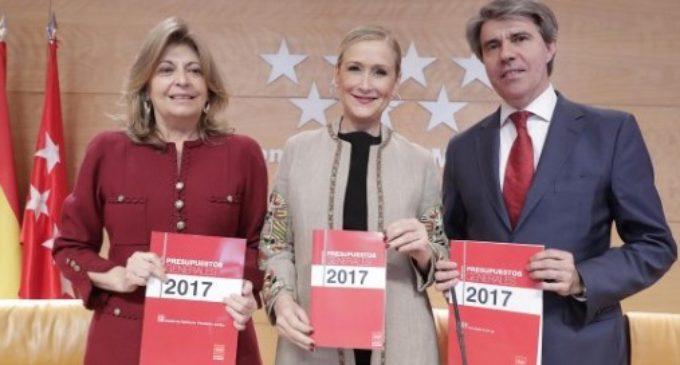 La Asamblea de Madrid aprueba los presupuestos de 2017 que entrarán en vigor el próximo 1 de junio