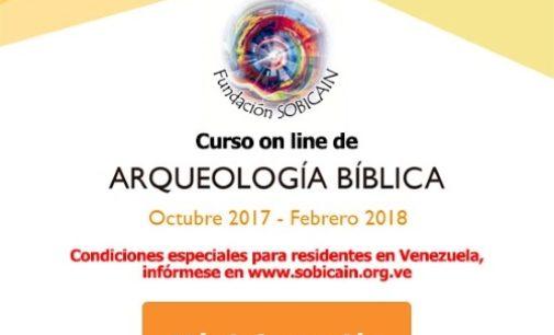 SOBICAIN organiza un curso on-line de Arqueología bíblica