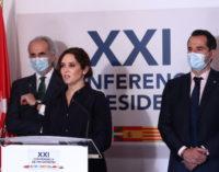 """Díaz Ayuso critica las negociaciones bilaterales de los """"déficit a la carta"""": """"No se puede pedir que unas CCAA tengan más independencia y otras menos autonomía"""""""