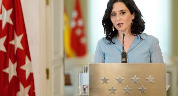 Comunicado de la presidenta Díaz Ayuso en la que anuncia la disolución de la Asamblea de Madrid y la convocatoria de elecciones