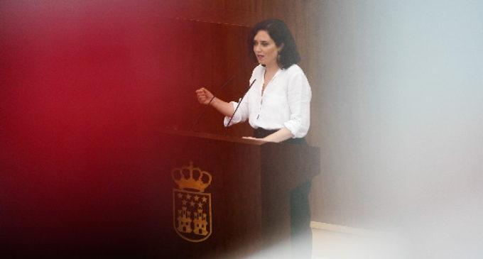 Declaraciones de la presidenta en funciones y candidata a la investidura de la Presidencia de la Comunidad de Madrid