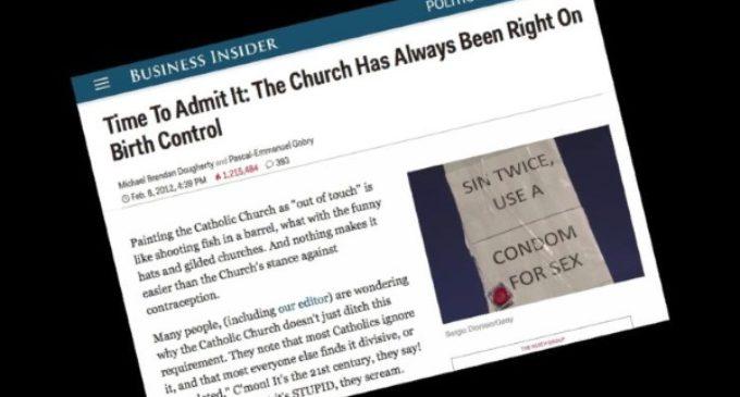 Business Insider da la razón a la Iglesia católica en el tema de los anticonceptivos