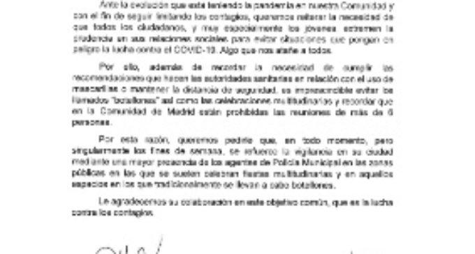 La Comunidad pide a los aytos. de la región reforzar la vigilancia para combatir el botellón y las fiestas multitudinarias