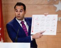 La Comunidad de Madrid tendrá en 2020 un calendario laboral con 12 días festivos