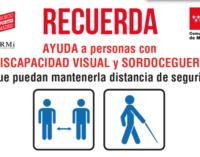 Campaña en Madrid para el uso seguro del transporte público para las personas con discapacidad