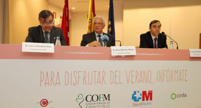 La Comunidad y el Colegio de Farmacéuticos refuerzan este verano la protección de la salud de los madrileños