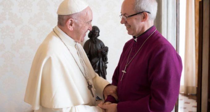 Iglesia de Inglaterra: El Papa Francisco recibe al arzobispo de Canterbury
