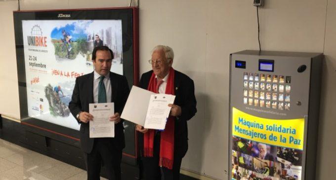 La Comunidad de Madrid y Mensajeros de la Paz colaboran en la recogida de alimentos y otros servicios básicos en la red de Metro