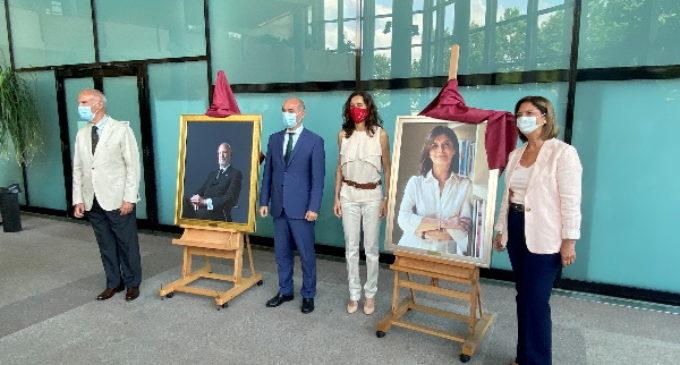 La Comunidad, en la presentación de los retratos de los ex presidentes de la Asamblea de Madrid José Ignacio Echeverría y Paloma Adrados