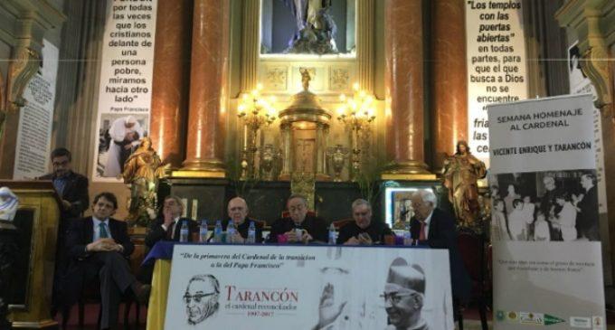Los cardenales Osoro, Sistach y Maradiaga homenajean en Madrid a Tarancón
