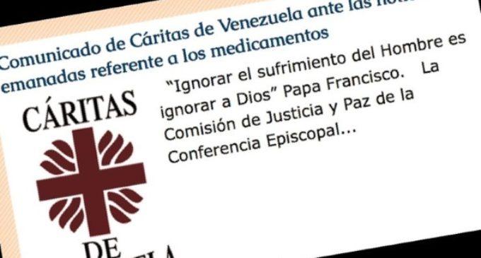 Venezuela: El Gobierno confisca medicinas enviadas a Cáritas