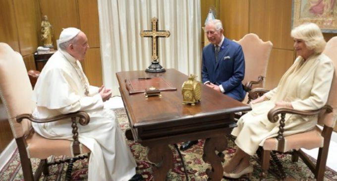 El Papa concede audiencia privada al príncipe Carlos y su consorte Camilla