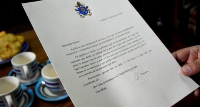 El Santo Padre responde a una joven chilena que le había escrito hablándole de su situación en la cárcel