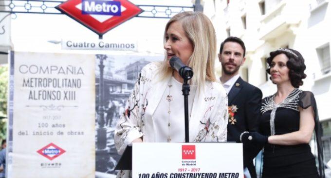 Cifuentes se compromete a que Metro de Madrid siga siendo un referente de modernidad y competitividad