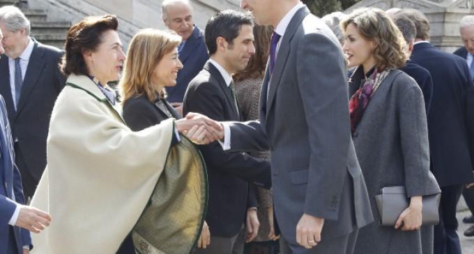 SSMM los Reyes inauguran la exposición de Cervantes de la Biblioteca Nacional que podrá verse hasta el próximo 22 de mayo