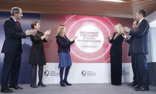 Cifuentes afirma que la apertura en Madrid de la Clínica Universidad de Navarra refuerza la posición de liderazgo de la región en el ámbito sanitario