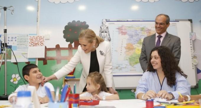 Casi 7.000 alumnos han sido atendidos este curso en los colegios de los hospitales públicos de la Comunidad de Madrid