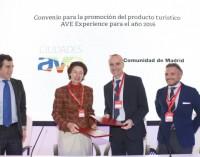 La Comunidad de Madrid firma un convenio para fomentar viajes personalizados a la región en AVE