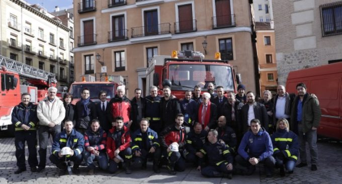 """El convoy """"Madrid con Siria"""" parte con el material donado por Comunidad, Ayuntamiento y Bomberos Unidos Sin Fronteras"""