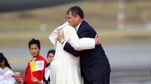 Correa y el Papa 4