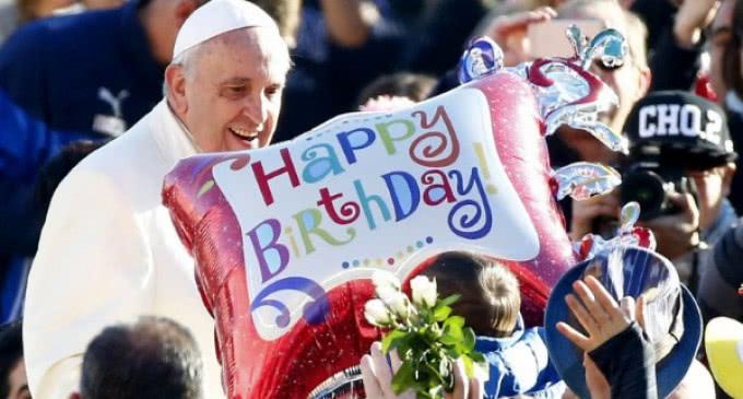El Papa el día de su 78 cumpleaños: «Jesús eligió venir al mundo en una familia»