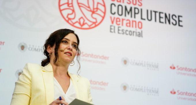 """Díaz Ayuso:Madrid seguirá como """"polo de atracción para futuras generaciones"""" con políticas basadas en la libertad"""
