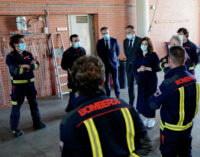 Díaz Ayuso agradece el trabajo de los 1.300 Bomberos de la Comunidad de Madrid durante el COVID-19