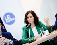 Díaz Ayuso alerta del peligro de los nacionalismos y apela a la unidad para buscar un proyecto común europeo