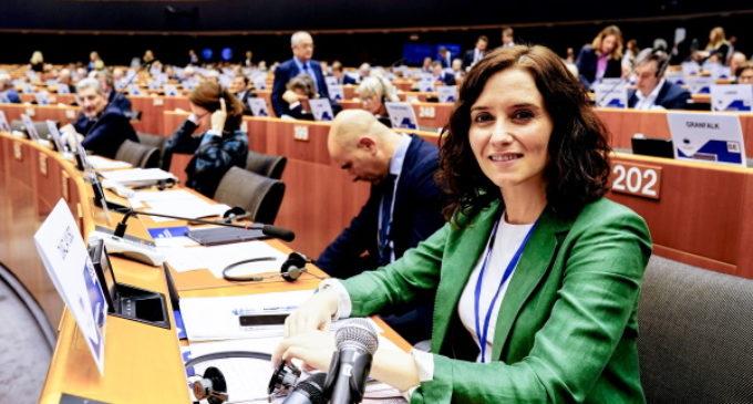 Díaz Ayuso apuesta por mantener en Europa un modelo de libertad y de convivencia