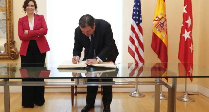 Díaz Ayuso intensifica contactos con Estados Unidos para que Madrid sea un referente en las relaciones trasatlánticas