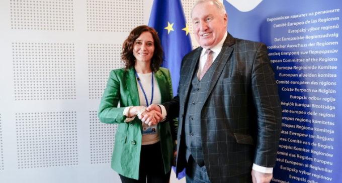 Díaz Ayuso ofrece en Europa la experiencia de Canal y del 112 para afrontar los desafíos del medio ambiente y la seguridad