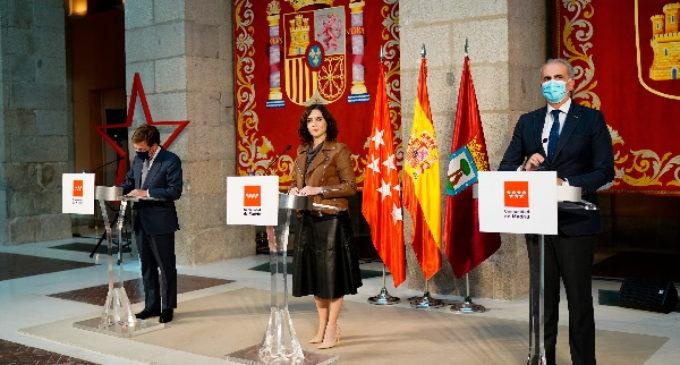 Declaración institucional de la presidenta de la Comunidad de Madrid, Isabel Díaz Ayuso