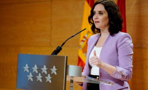 Díaz Ayuso, ha dado positivo en la prueba de coronavirus, pero seguirá cumpliendo sus funciones como presidenta de la Comunidad de Madrid