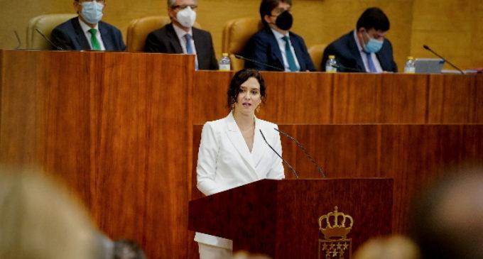Díaz Ayuso blindará con una Ley la autonomía fiscal de la Comunidad de Madrid