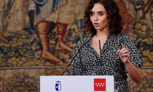"""Díaz Ayuso """"peleará por lo mejor"""" para Madrid en financiación: """"El sistema de financiación no se puede tratar en mesas bilaterales con los independentistas"""""""