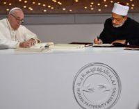 Desde Arabia, una apuesta (inédita) por la fraternidad y la paz